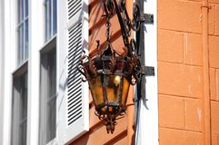 Antique outdoor lighting Stock Photography