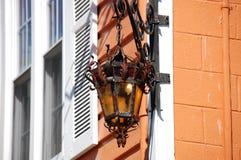 Antique outdoor lighting. Fixture in Northern Virginia Stock Photography