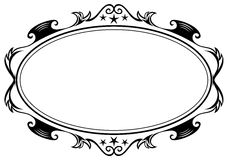 Antique oval frame Stock Image