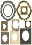 Antique oval frames Stock Photo