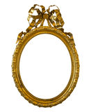 Antique oval golden frame isolated on white Stock Photo