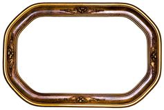 Antique Oval Picture Frame Stock Images
