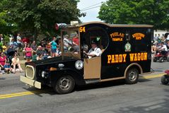Antique Paddy Wagon Royalty Free Stock Images
