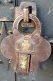 Antique padlock. Of a church door Stock Images