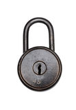 Antique Padlock. On white background. Clipping path included royalty free stock photos