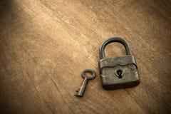 Antique padlock Stock Image
