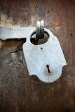 Antique padlock Stock Photography