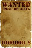 Antique page - wanted Stock Image