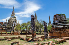 The Antique Pagoda. In Ayutthaya Historical Park,Thailand.Public place Royalty Free Stock Image