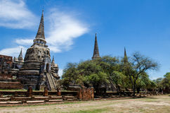 The Antique Pagoda. In Ayutthaya Historical Park,Thailand.Public place Stock Photos