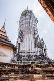 Antique pagoda and ruined sanctuary in Wat Putthaisawan Royalty Free Stock Photos