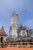 Antique pagoda and ruined sanctuary in Wat Putthaisawan Royalty Free Stock Images
