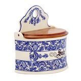 Antique painted porcelain crockery for spices Royalty Free Stock Images