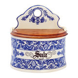 Antique painted porcelain crockery for spices Stock Image
