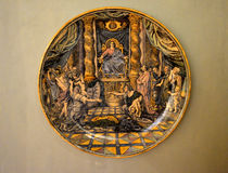 Antique painting on a plate Stock Image