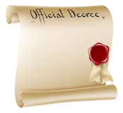 Antique paper document Royalty Free Stock Images