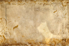 Antique paper featuring flourish design Royalty Free Stock Photo