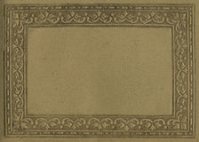 Antique paper frame Royalty Free Stock Images