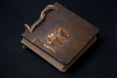 Antique paper notes on a black background Royalty Free Stock Image