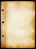 Antique paper texture. Antique vintage paper texture with holes in dark borders Stock Images