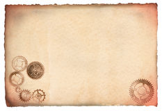 Antique parchment with cogs Royalty Free Stock Photography