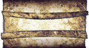 Antique parchment paper scrolls. Vintage grunge textured parchment scrolls, antique background texture of a paper pages, highly detailed Royalty Free Stock Images