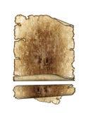 antique parchment paper scrolls, texture backgrou Stock Image