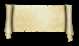Antique parchment scroll. Stock Photography