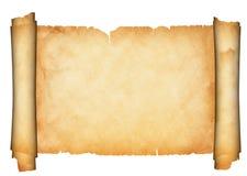 Antique parchment scroll. Stock Image