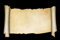 Antique parchment scroll. Royalty Free Stock Photography