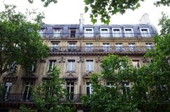 Antique Paris apartment homes exterior royalty free stock image
