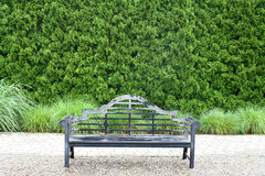 Antique Park Bench. Antique bench typical of those found in many public parks Royalty Free Stock Image