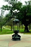 Antique Park Lamp in austin state capitol royalty free stock image