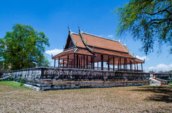 Antique Pavilion. At Ayutthaya Hotorical Park, Thailand. Public place Royalty Free Stock Photos