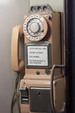 Antique pay phone Royalty Free Stock Photo