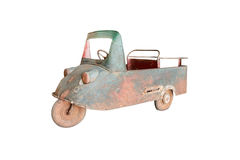 Antique Pedal Car isolated on white background Stock Photo