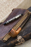 Antique Pen and Pipe Royalty Free Stock Image