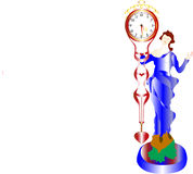 Antique, pendulum clock Stock Image