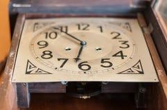 Antique pendulum clock. Broken pendulum clock to restore Stock Images