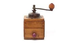 Antique pepper grinder. Antique isolated pepper grinder or mill Stock Image
