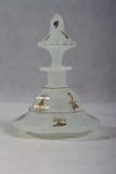 Antique perfume bottle 1840 - 1850 white stock photography