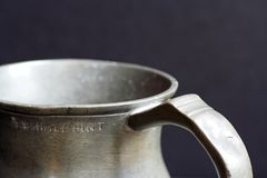 Antique Pewter Tankard Royalty Free Stock Photography