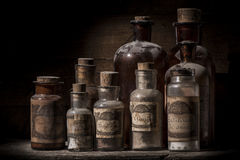 Antique pharmacy jars Stock Image