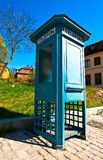 Antique phone booth. In the park Skansen in Stockholm Stock Image