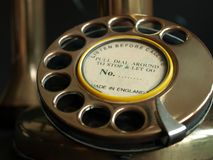 Antique Phone-Rotary Dial. A closeup of an antique rotary dial phone Stock Photography
