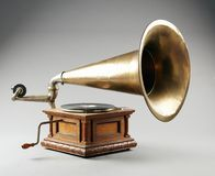 Antique phonograph stock photography