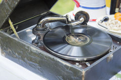 Antique Phonograph Record Player Stock Images