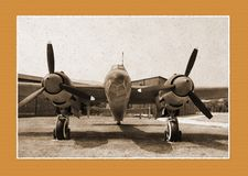 Antique photo of bomber Stock Photo