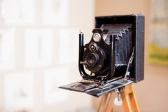 Antique photo camera Royalty Free Stock Images