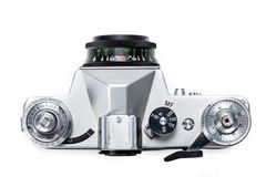 Antique photo camera close up Stock Images